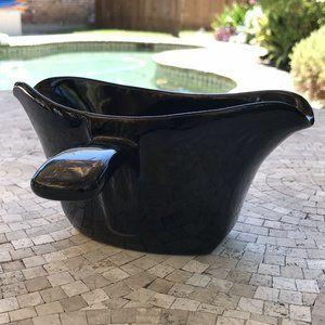 Frankoma Pottery Black Onyx Gravy Boat 6S